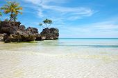 picture of boracay  - Beautiful calm beach in Boracay island - JPG