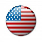 Vector badge with american flag (independence day badge)