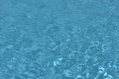 Resort Water Ripple. Pool Water Texture. Recreation, Summer, Water, Water Park. Pool In Daylight. In poster