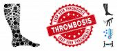 Mosaic Deep Vein Thrombosis Icon And Rubber Stamp Seal With Deep Vein Thrombosis Caption. Mosaic Vec poster