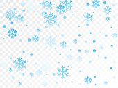 Crystal Snowflake And Circle Shapes Vector Graphics. Macro Winter Snow Confetti Scatter Flyer Backgr poster