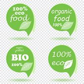 Organic Design Template. Eco Friendly Stamp. Vegan Green Round Icon. Vector Ecology Sphere Logo. Gre poster