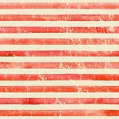 Vintage Paper. Watercolor Stripe Seamless Pattern. Red Stripes Background. Watercolour Hand Drawn St poster