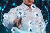 Business, Technology, Internet And Network Concept. Labor Law, Lawyer, Attorney At Law, Legal Advice poster