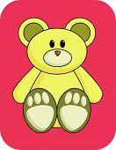 Cute Yellow Bear poster