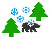 Frost Siberia Raster Icon. Flat Frost Siberia Pictogram Is Isolated On A White Background. poster