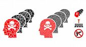 Kill All Humans Icon Mosaic Of Inequal Pieces In Variable Sizes And Color Tinges, Based On Kill All  poster