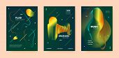 Trance Music Poster. Abstract Gradient Blend. Disco Club Festival. Dj Concert. Orange Electro Music  poster