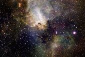 Nebulae And Stars In Outer Space, Glowing Mysterious Universe. Elements Of This Image Furnished By N poster