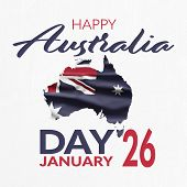 Australia National Day. Australian Flag With Stripes And National Colors. Happy Australia Day. Janua poster