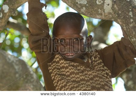 Boy in Simbabwe