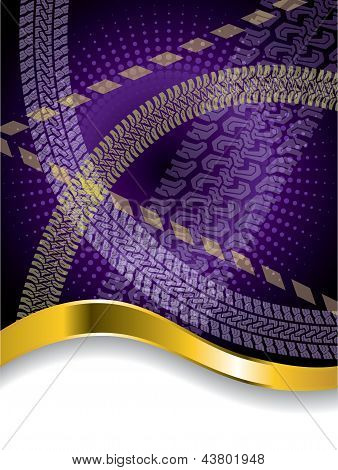Various Tire Treads On Purple Backdrop