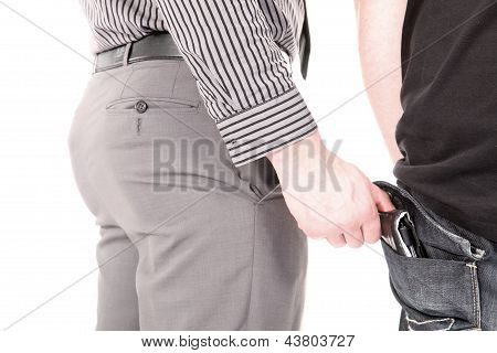 Pickpocket Stealing A Wallet