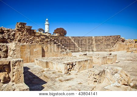 The Ancient Amphitheatre In Paphos, Cyprus
