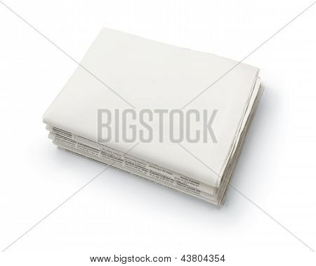 Stack Of Blank Newspapers