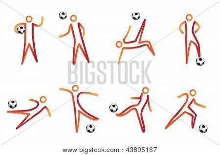 mascote do vetor de futebol