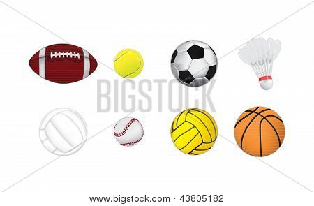 Sports balls vector illustration