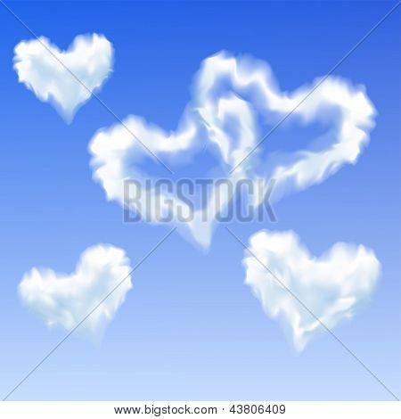 心形云 库存矢量图和库存照片 | bigstock