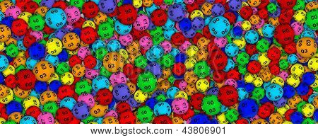 Lottery balls background