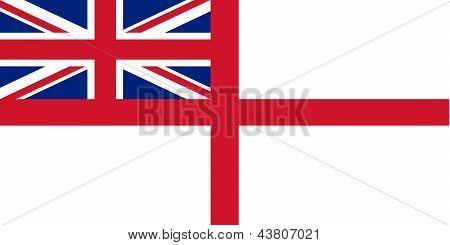 Flag Of The United Kingdom (white Ensign).