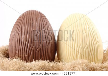 Photo of B&W Easter eggs