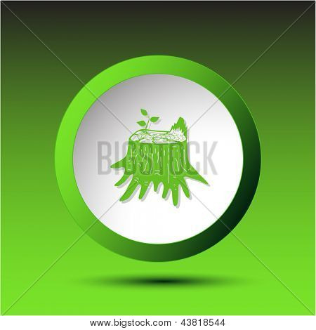 Stub. Plastic button. Vector illustration.