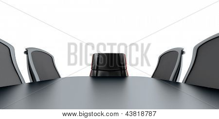 table and chairs in modern meeting room