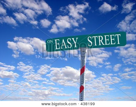 On Easy Street Sign