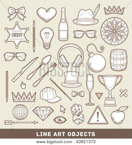 Line art emblems