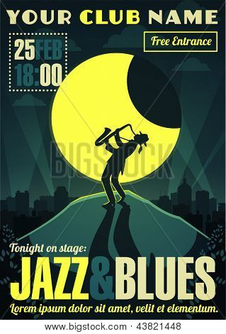 Jazz and blues poster