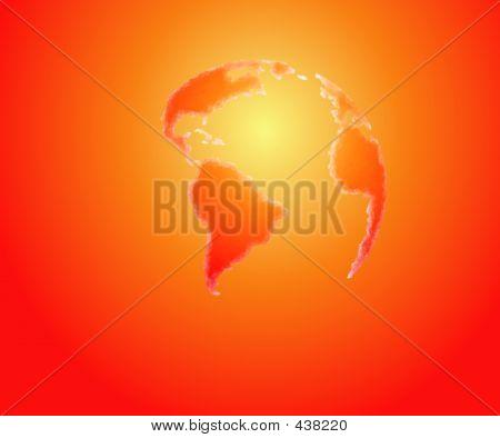 Stylized Globe-hot Colors