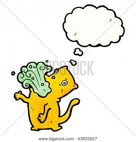 burping cat cartoon