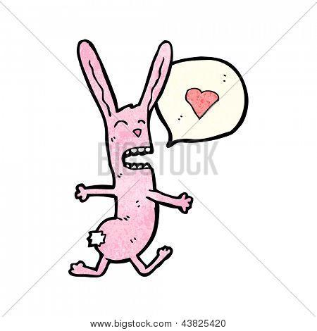 funny cartoon rabbit