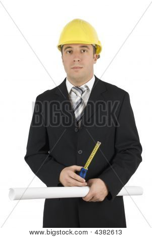 Architect With Measurement Tools
