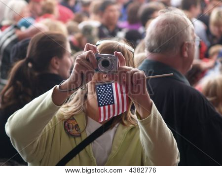 Take A Picture At A Rally