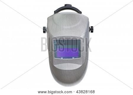 welder helmet under the white background