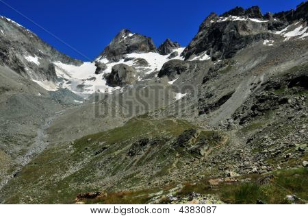 Bertol Glacier And Refuge On West Side