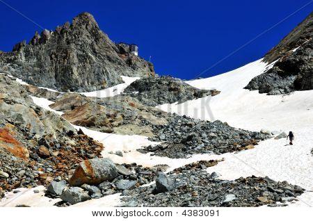 Bertol Glacier And Bertol Refuge