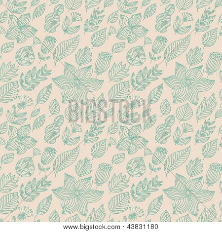 Stylish floral seamless pattern. Vintage wallpaper in pastel colors. Seamless pattern can be used for wallpapers, pattern fills, web page background, surface textures.