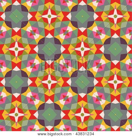 Bright vintage background.  Seamless pattern can be used for wallpapers, pattern fills, web page backgrounds, surface textures. Gorgeous seamless colorful background