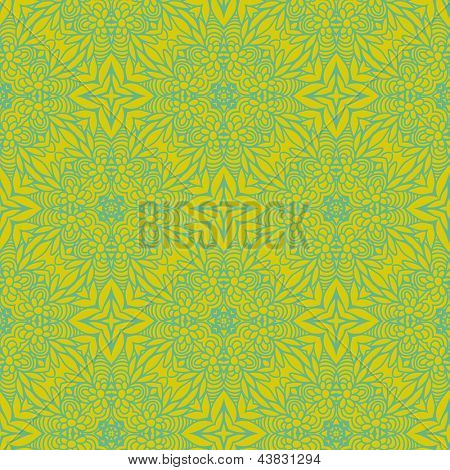 Green colored seamless pattern. Abstract bright background.  Seamless pattern can be used for wallpapers, pattern fills, web page backgrounds, surface textures. Gorgeous seamless background