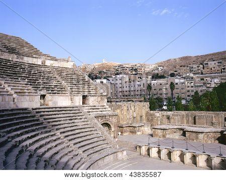 Roman Amphitheater In Amman