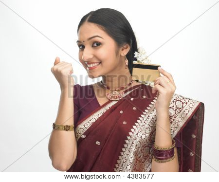 Teenage Girl With Credit Card
