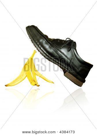 Banana Peel Under The Shoe