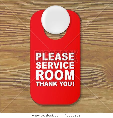 Do Not Disturb Red Sign With Gradient Mesh, Vector Illustration