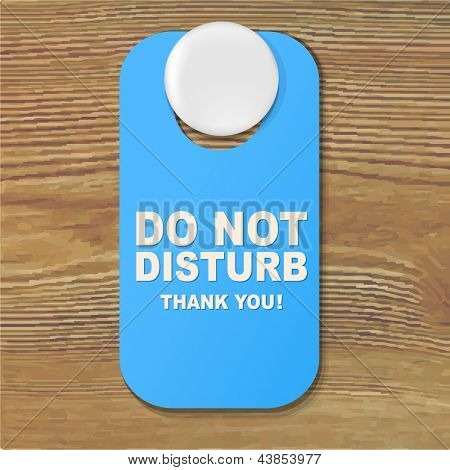Do Not Disturb Blue Sign With Gradient Mesh, Vector Illustration