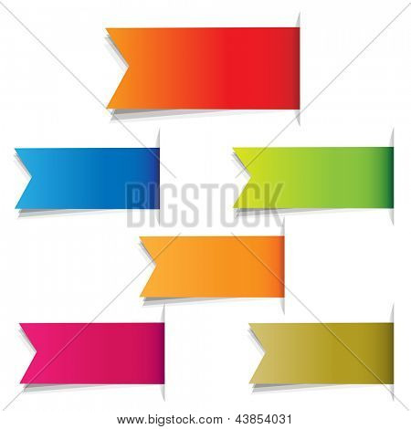 Color Labels, Isolated On White Background, Vector Illustration
