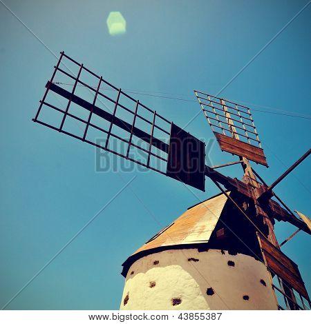 old windmill Fuerteventura, Canary Islands, Spain