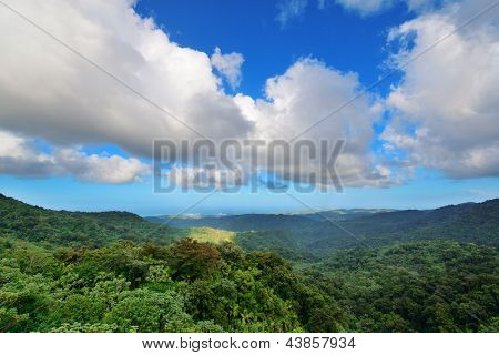 Mountain with cloud in San Juan, Puerto Rico.