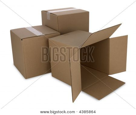 Cardboard Boxes With Path